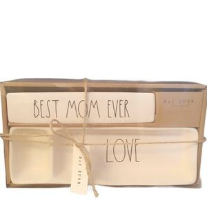 Rae Dunn by Magenta BEST MOM EVER Plaque & Tray